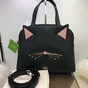 Kate spade cat's meow cat Lottie satchel Crossbody